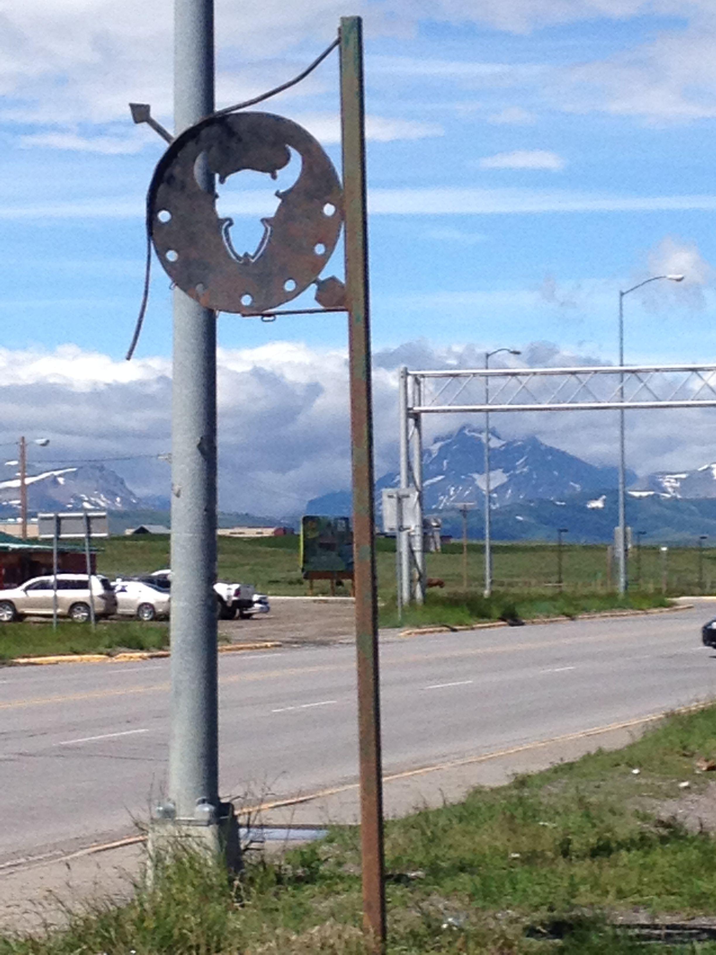 Roadside sign, Blackfoot Nation, Montana