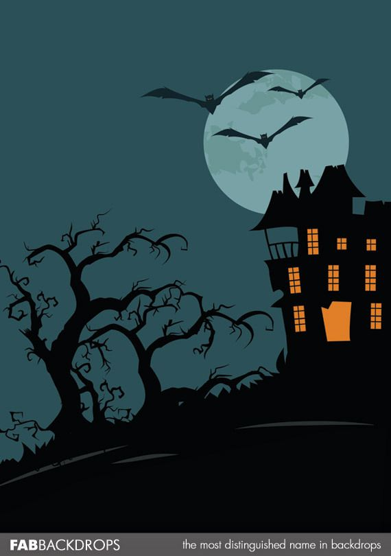 FabVinyl Classic Haunted House Halloween Backdrop Pinterest - halloween backdrop