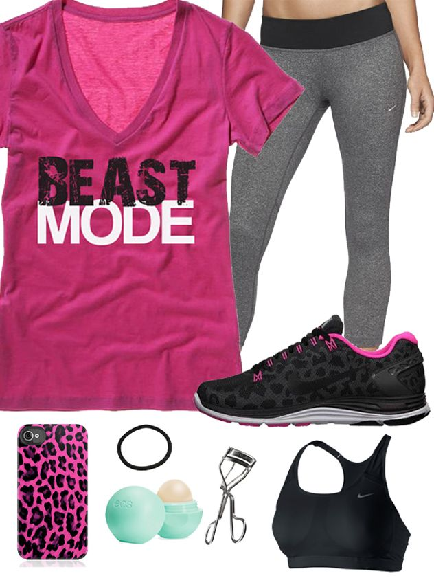 2036555ba5f6 One of my favorite  GymGear boards featuring a BEAST MODE Women s  Workout  VNeck Pink