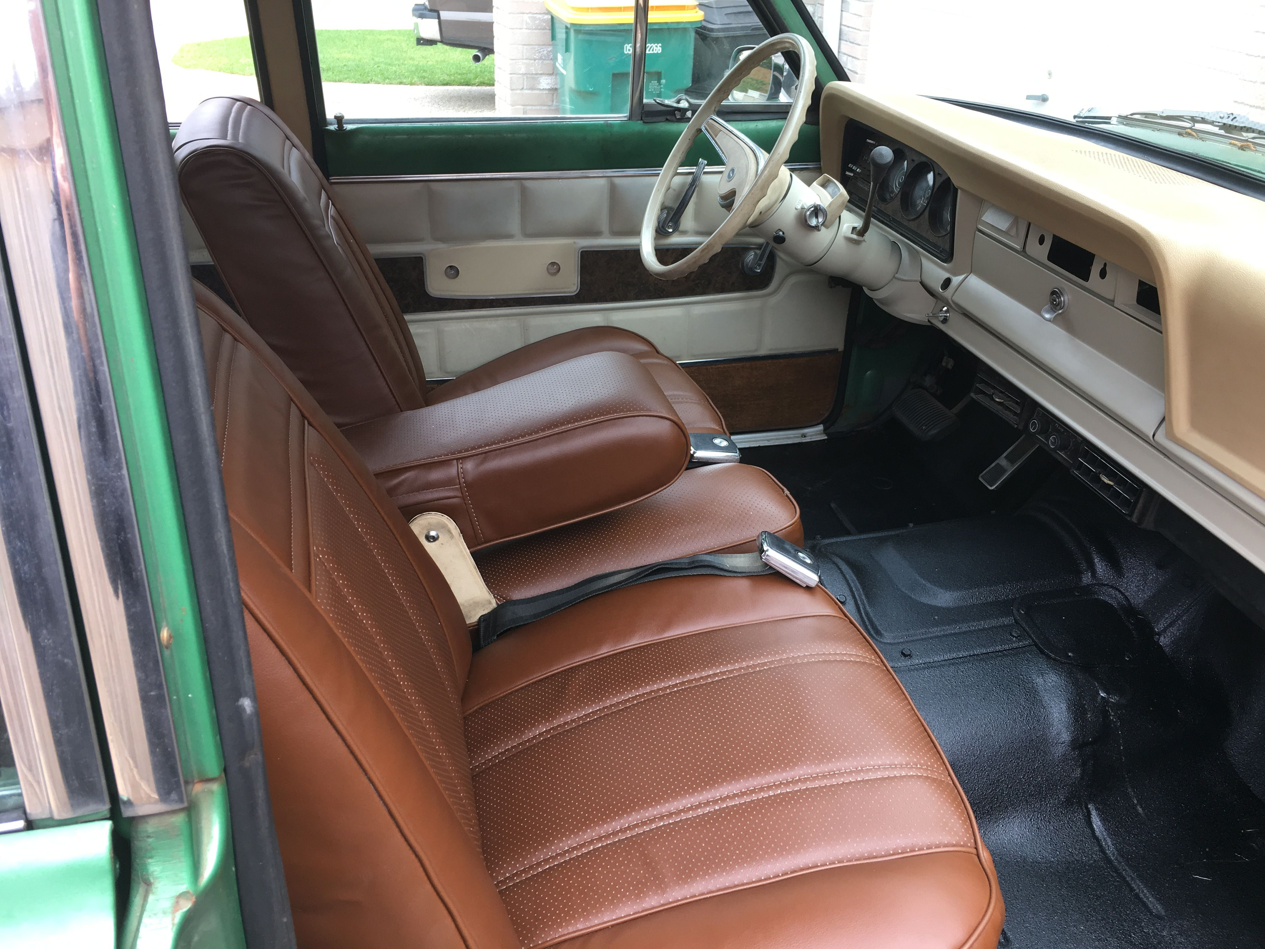 Just Installed Newly Recovered Seats In My 1974 Wagoneer Project