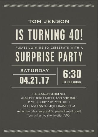 40th birthday party invitations for men my birthday pinterest