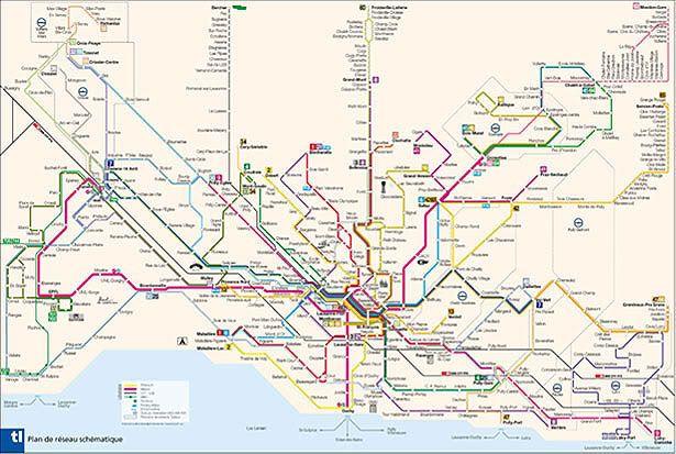 Lausanne, Switzerland | Transit maps | Map, Lausanne und Subway map