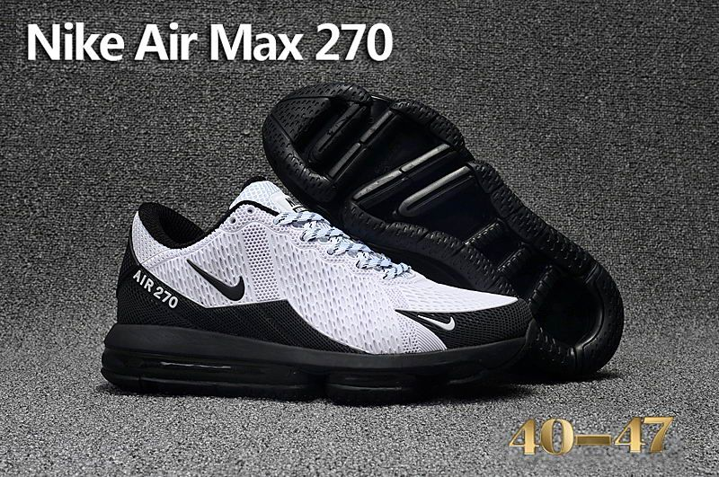 detailing 74527 2f4cb Cheap Nike Air Max Flair 270 KPU White Black