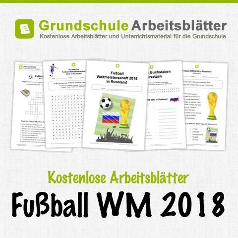 Kostenlose Arbeitsblätter zur Fußball WM 2018 in Russland | Fussball ...