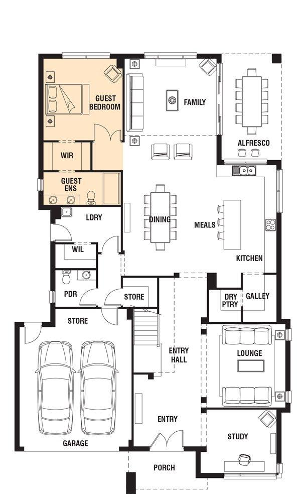Porter davis homes house design astor grange new plans floor also best images in home plants rh pinterest
