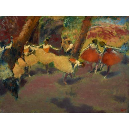 Before The Performance Canvas Art - Edgar Degas (18 x 24)