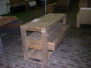 Teak Recycled Oud Hout Badkamer dressoir met 1 lade 1 - badkamer ...
