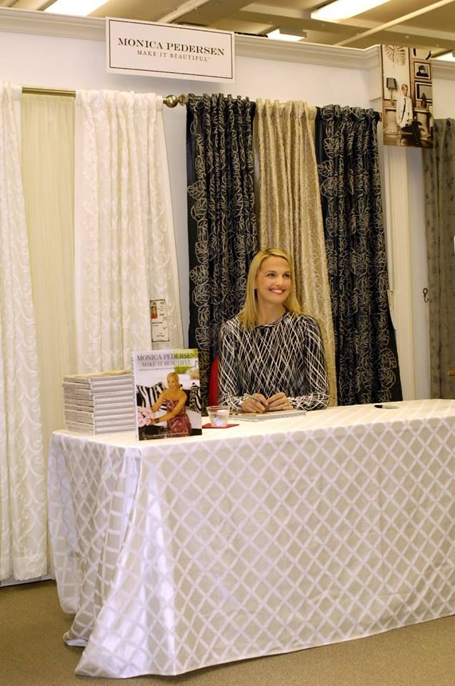 Monica Pedersen Launches Her New Line Of Curtains And Book Signing