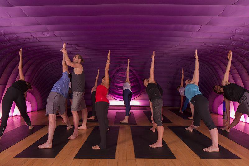 Inflatable yoga studios tent glamping yoga studio