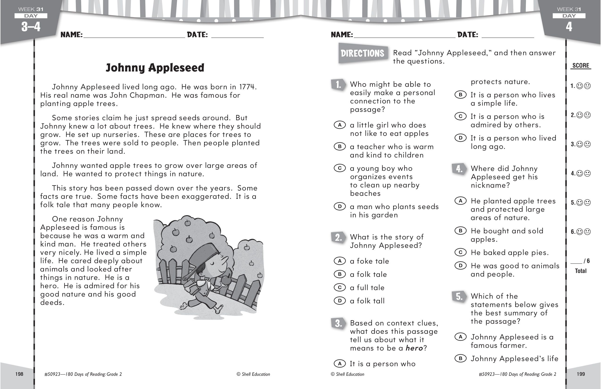 Use This Engaging Reading Activity From Practice Assess Diagnose 180 Days Of Math For First