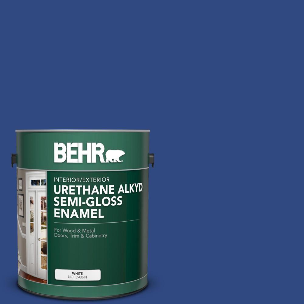 Behr 1 Gal P530 7 Tanzanite Urethane Alkyd Semi Gloss Enamel Interior Exterior Paint 393001 Exterior Paint Interior Exterior Interior Paint