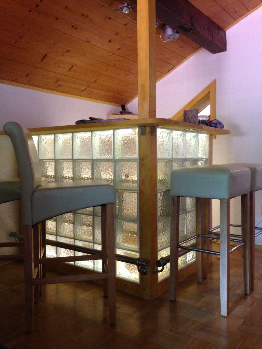 Diy Bar Mit Glasbausteine Glasbausteine Theke Selber Bauen Bar