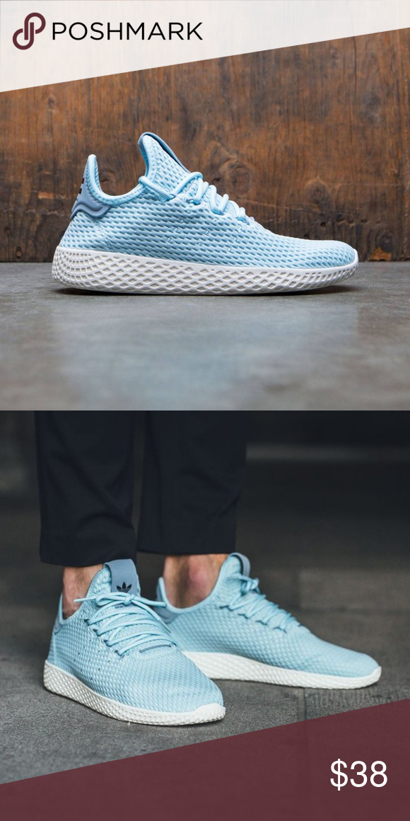 New Adidas Pharrell Williams Tennis Hu Shoes Never Worn Open To Offers Icy Blue Color Men Size 5 5 Adidas Pharrell Williams Williams Tennis New Adidas