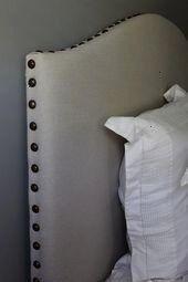 Drop ClothNailhead Trim Upholstered Headboard Tutorial Greyleigh Flensburg Full Upholstered Wingback Headboard Nixon Faux Leather Nailhead Armchair White  Abbyson Living...