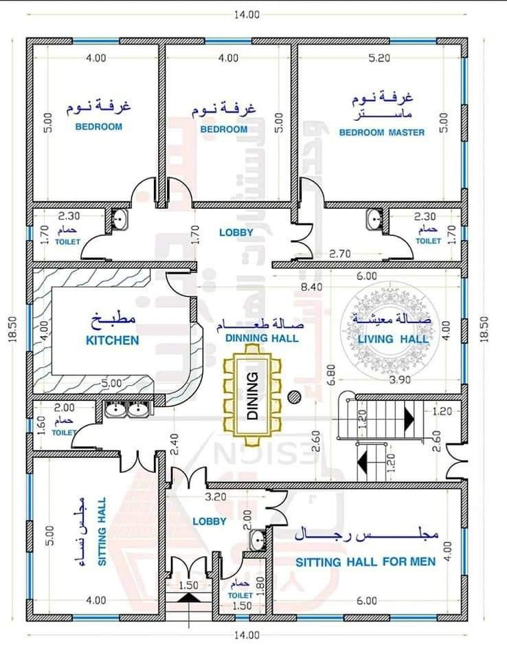 House Plan 14 18 5m In 2021 My House Plans Model House Plan House Map