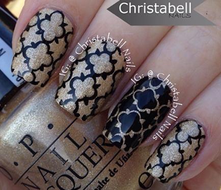 Nail Art Video Tutorial Quatrefoil Pattern Nail Art Used Sally