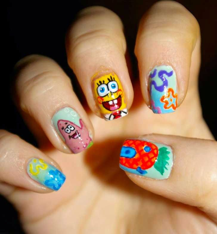 Bob esponja   Nails   Pinterest   Bob esponja
