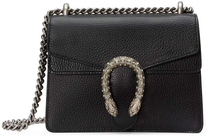 ed223f86274 Gucci Mini Dionysus Leather Shoulder Bag