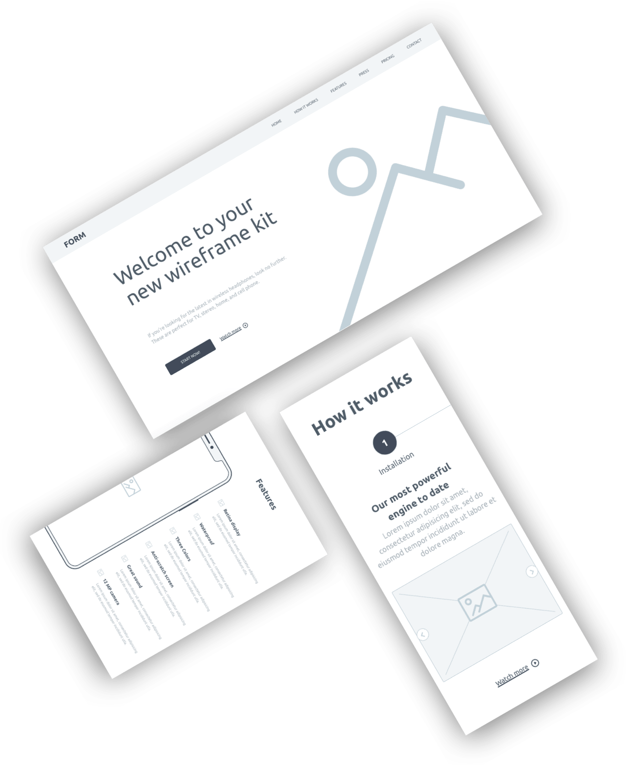 Form Free Wireframe Kit From Invision Wireframe Kit Wireframe Kit