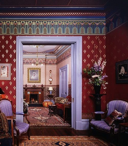 Victorian dollhouse wallpaper the answer could start with another question that depends which