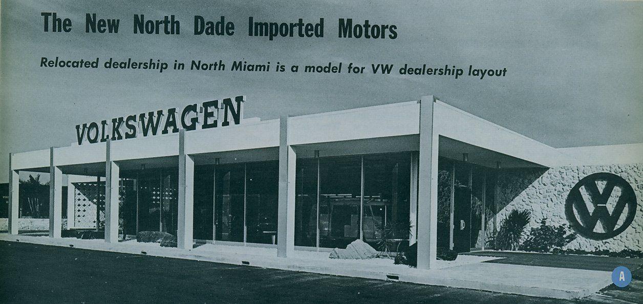 The Volkswagen Mid Century Modern Decorative Concrete Block Story Vw Dealership Volkswagen Vw Beetle Classic