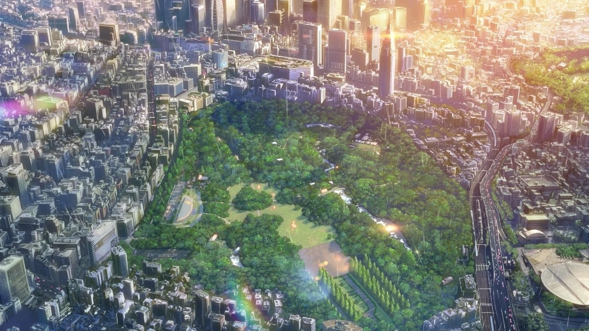 city, The Garden Of Words, Makoto Shinkai Wallpapers HD