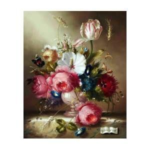Romantic Flowers Bouquet Art Print by Arty Fame