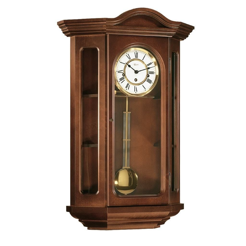 Hermle Faulkner Mechanical Curio Wall Clock 70305n90341 Maple