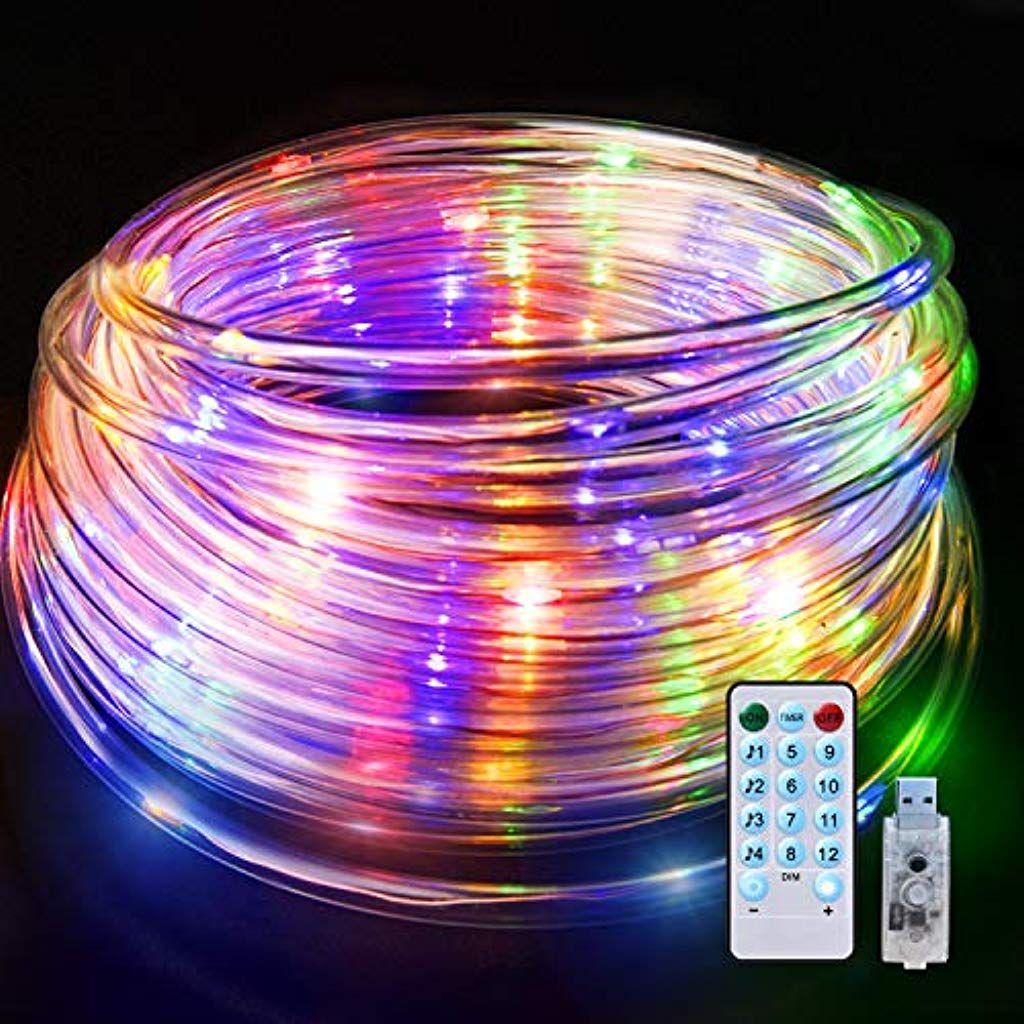Zoeetree 10m Led Lichterkette Lichterkette Aus Kupferdraht Mit Wasserdichter Schlauch 12 Modi Dimmbar Farbige Lic Led Lichterkette Lichterkette Lichterschlauch