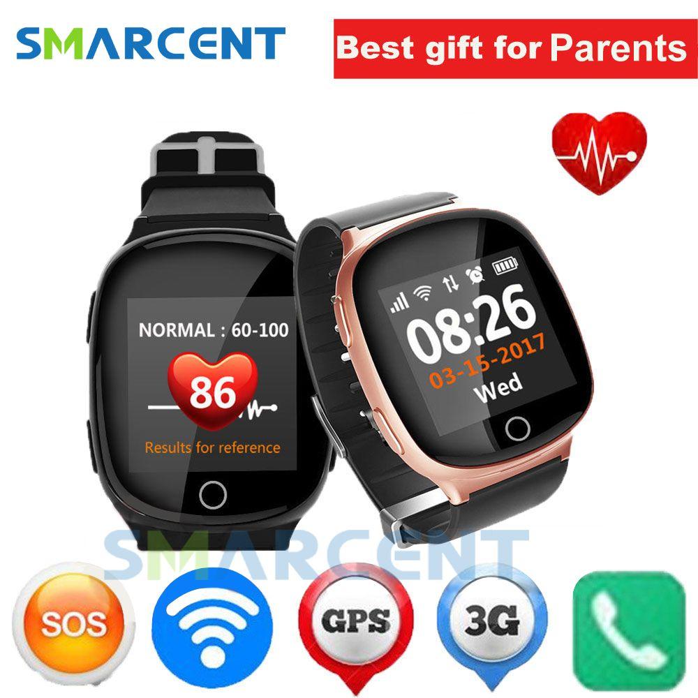 D100 Elderly Smart Watch Heart monitor With falldown