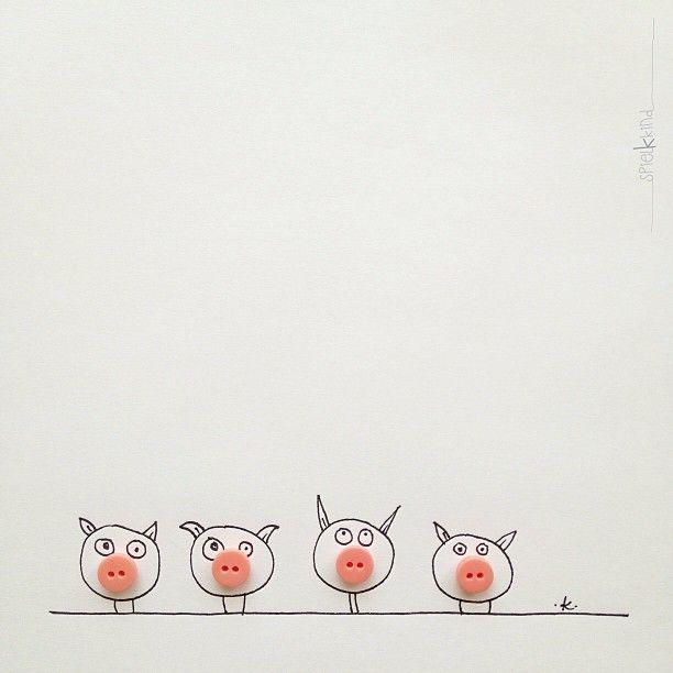 Four And Draw Something Khiesti Animals Spielkkind Pig Art