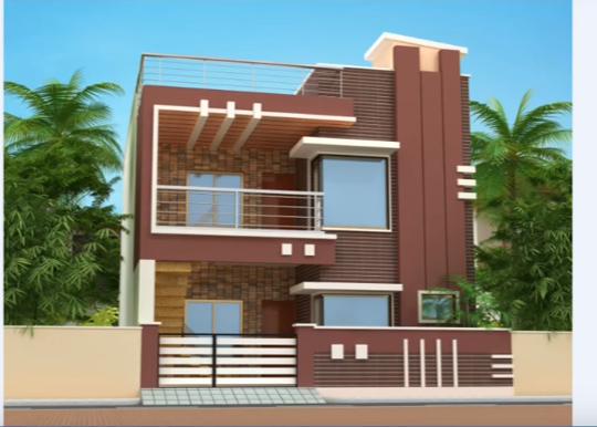 An Overview Of 25 Feet By 40 Trending House Plan With 3 Bedrooms Small House Front Design House Front Design Duplex House Design
