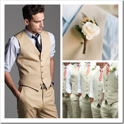 Perfect For Beach Weddings Khaki Casual Groom Mens Wedding