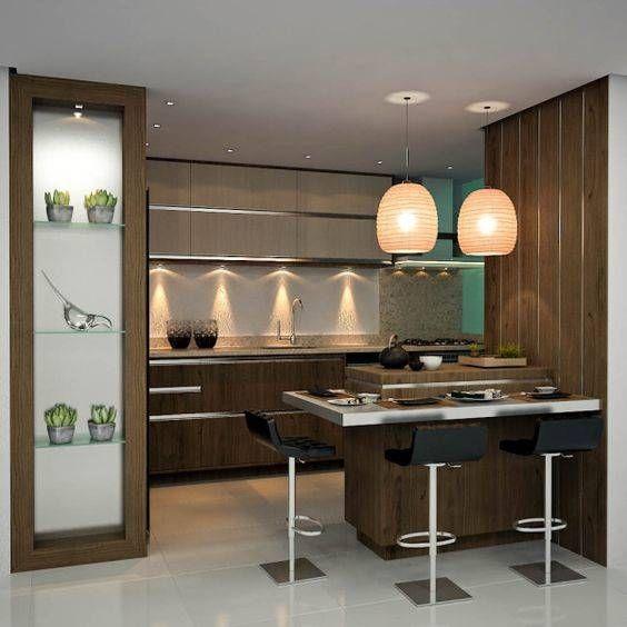 cozinha com iluminação aparente   GREEN B16   Pinterest   Modelo de ...