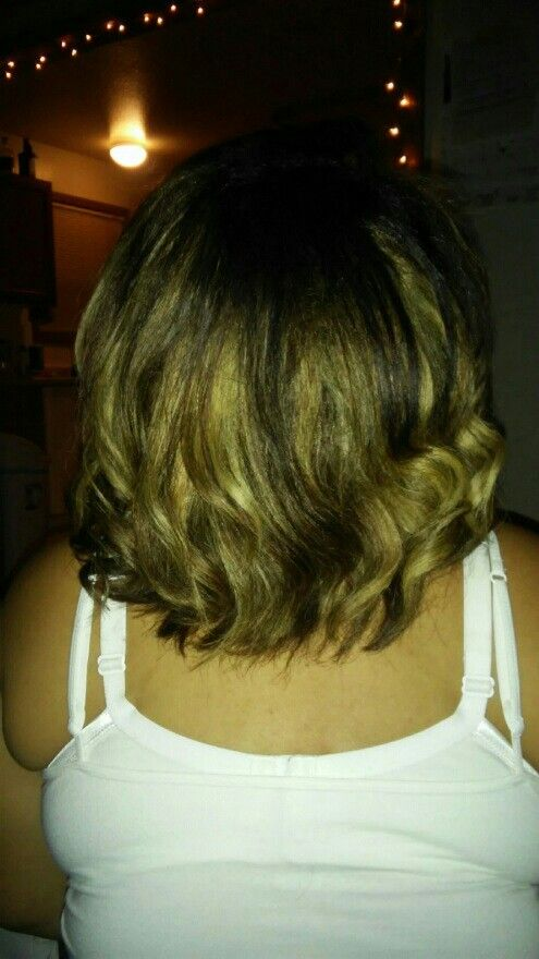Brown an blonde soft ombre an balyage
