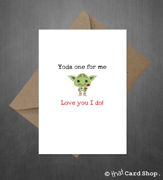 Star Wars Valentines Day Card Yoda Love You I do Cute Funny – Cute and Funny Valentines Day Cards