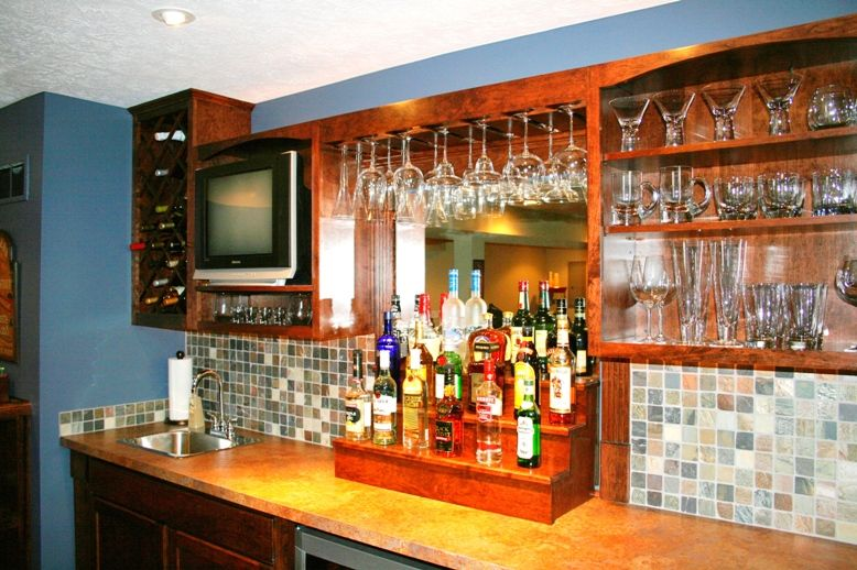 Back Bar Shelving Ideas Custom Built Home Bars And Entertainment Centers Bar Entertainment