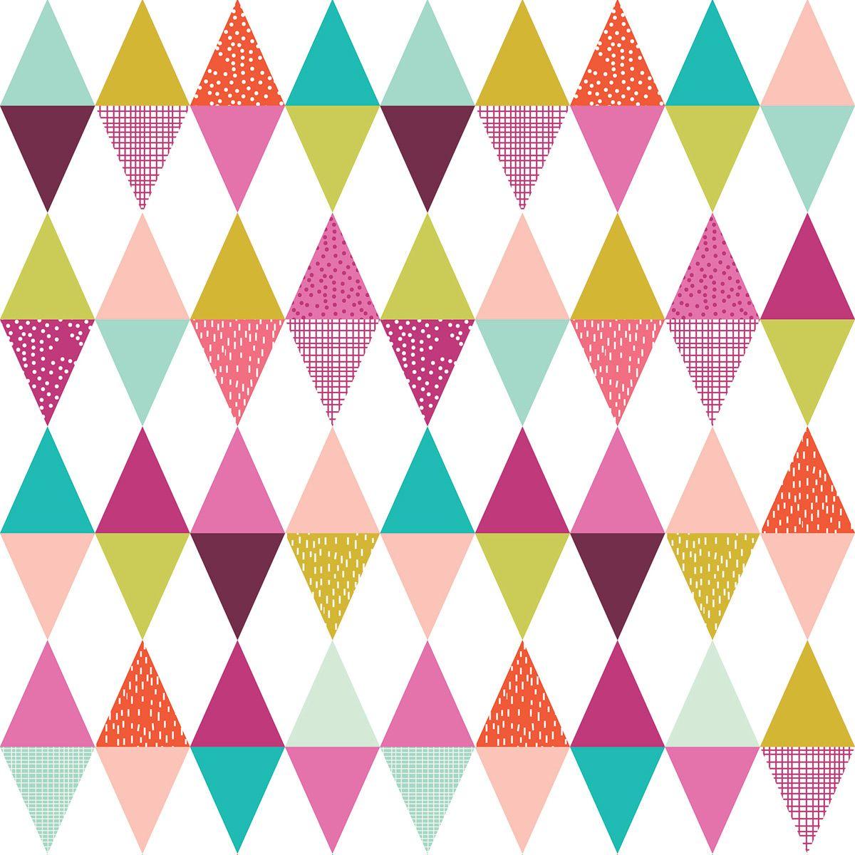l de papier peint intiss g om trique multicolore fille lilipinso and co papier peint. Black Bedroom Furniture Sets. Home Design Ideas