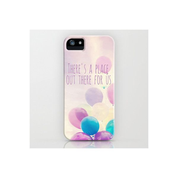 there's a place out there for us iPhone Case (2,315 INR) ❤ liked on Polyvore featuring phones, electronics and accessories