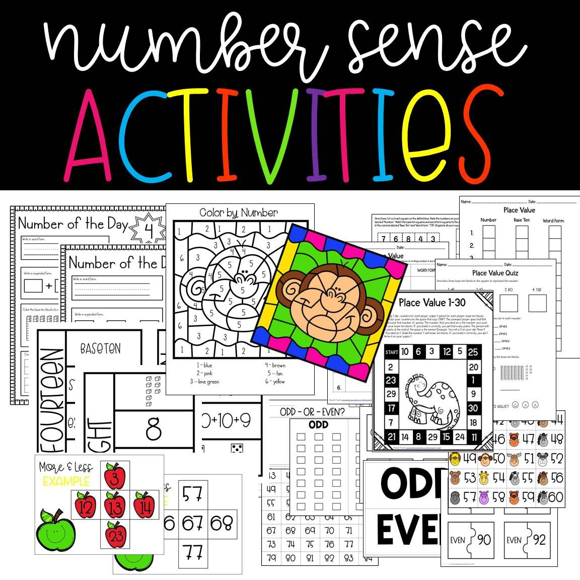 Number Sense Activities Centers Amp Worksheets