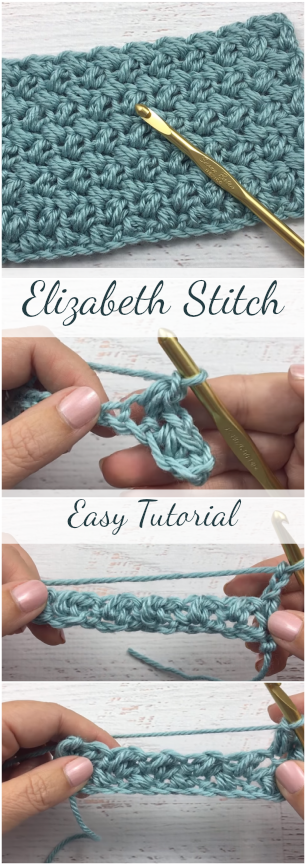 Crochet Elizabeth Stitch Easy Tutorial For Beginners + Simple & Free Video Guide