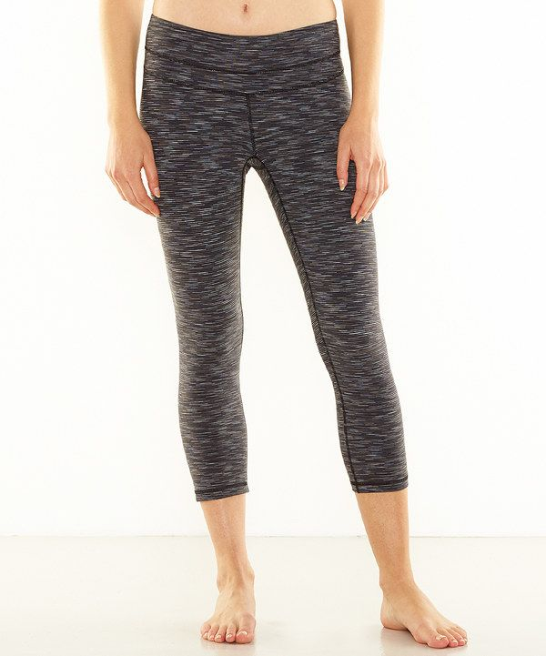 Look at this lucy Black Studio Hatha Capri Leggings on #zulily today!
