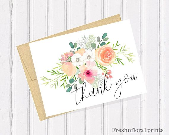 Anniversary Cards Printable Interesting Floral Thank You Card Printable Thank You Card Baby Shower Cards .