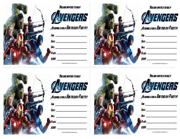 Free Printable Avengers Birthday Invitations – Birthday Invite Free