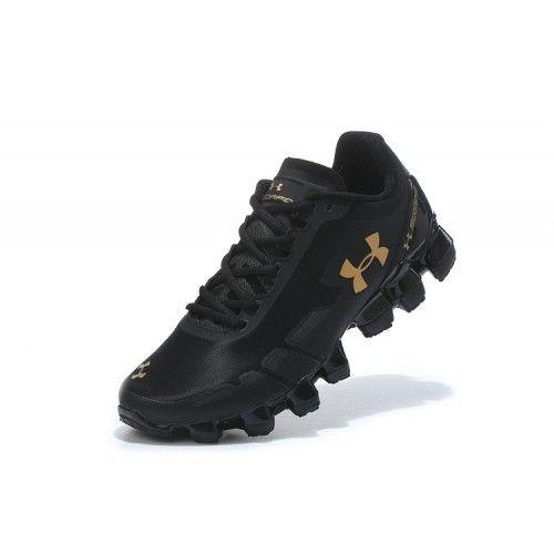 quality design 2a01f 1a7bf Nouveau Under Armour Scorpio Homme Noir Or Chaussures