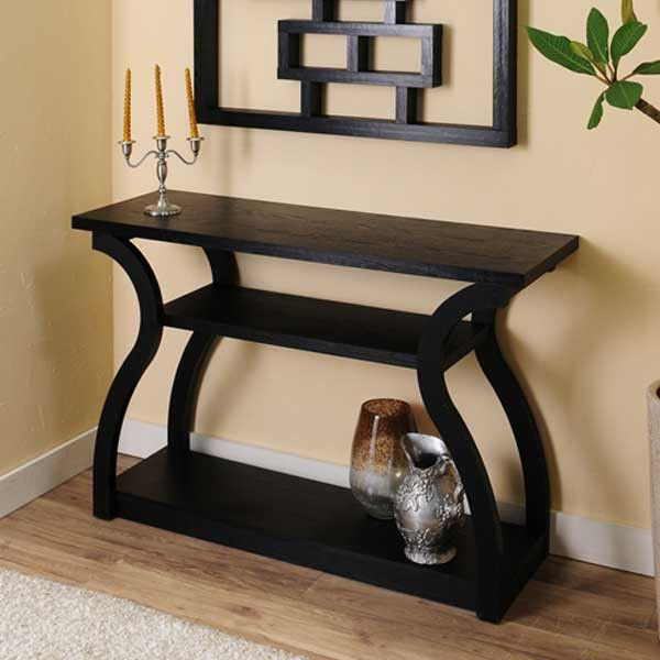 Ashford Contemporary Black Open Shelf Console Table Console tables