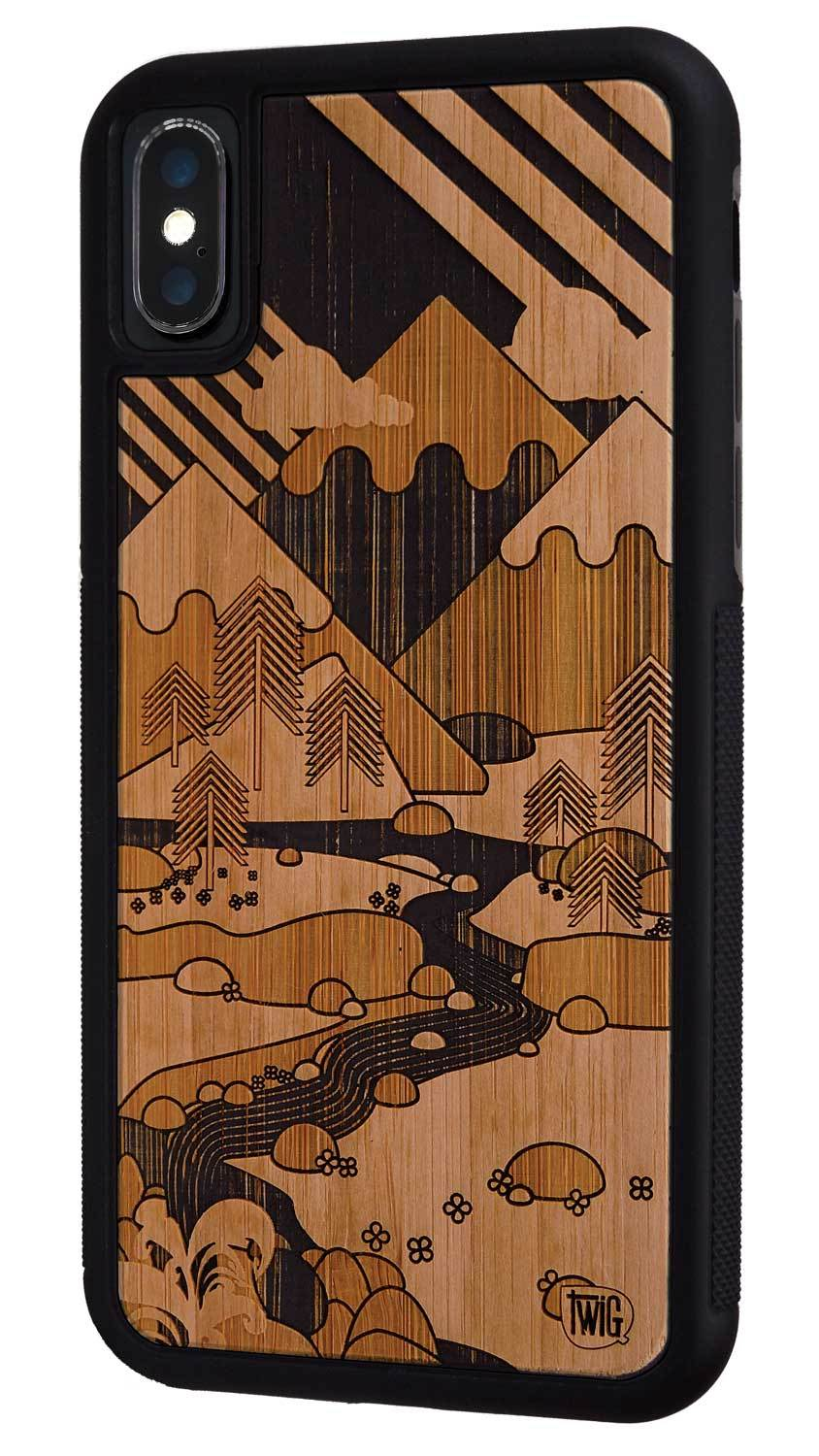 Its only mountains case for iphone xxsmaxxr wood