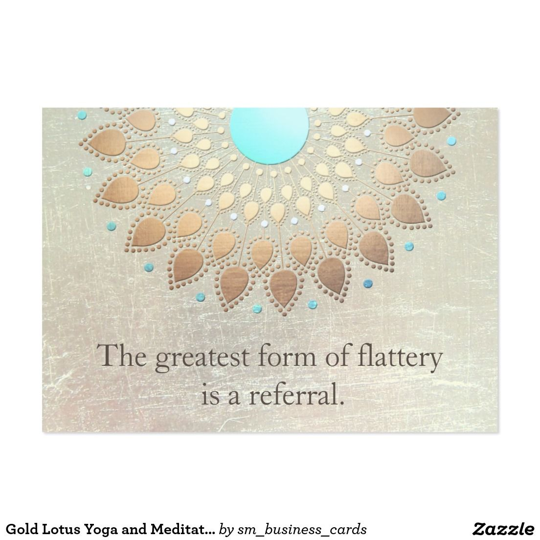 Gold Lotus Yoga and Meditation Referral Card | Business Cards: Large ...