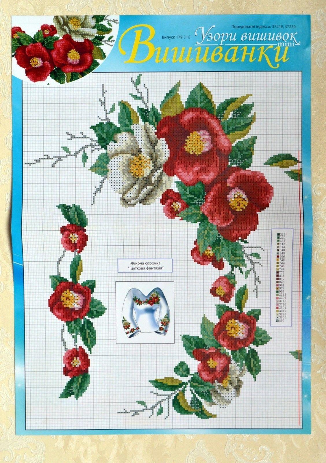 Cross stitch embroidery patterns ukrainian vyshyvanka shirt blouse