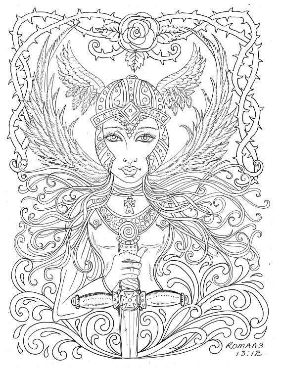 Angels Digital Download Coloring Book digi angel christian ...
